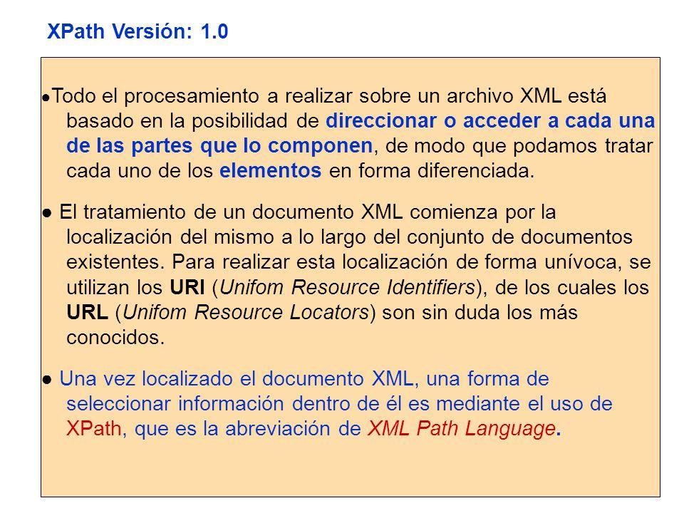XPath Versión: 1.0