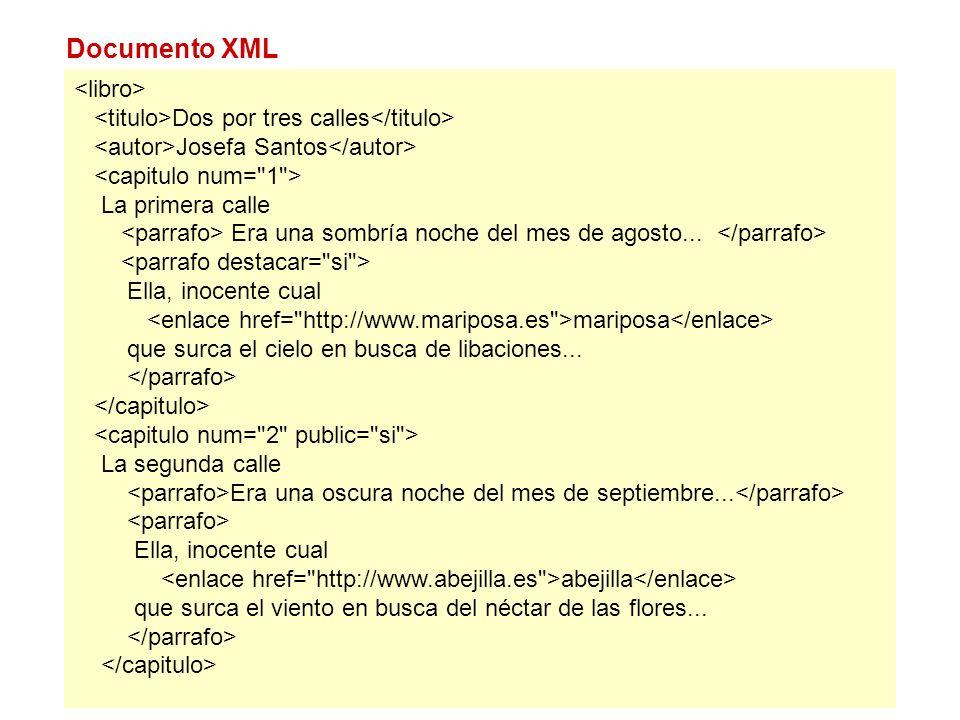 Documento XML <libro>