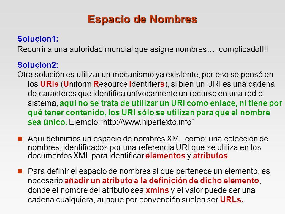 Espacio de Nombres Solucion1: