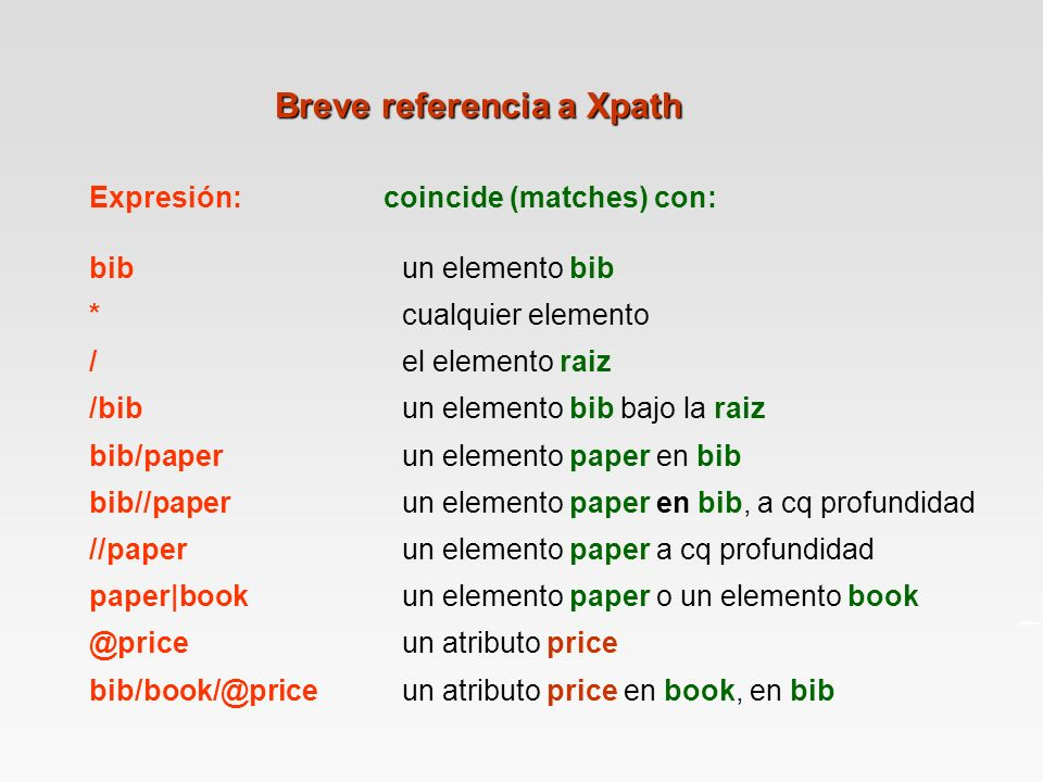 Breve referencia a Xpath