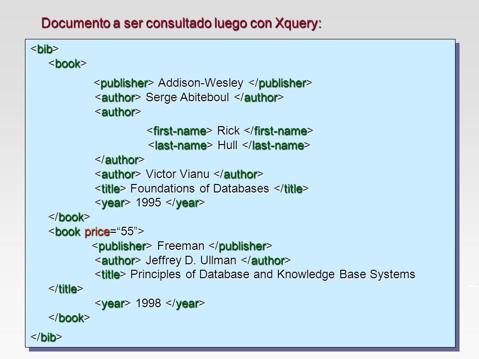 Documento a ser consultado luego con Xquery: