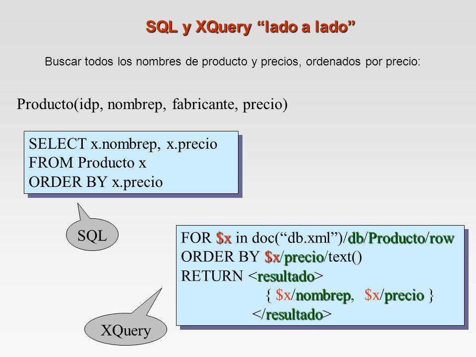 SQL y XQuery lado a lado