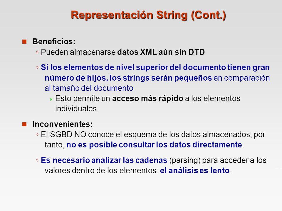 Representación String (Cont.)