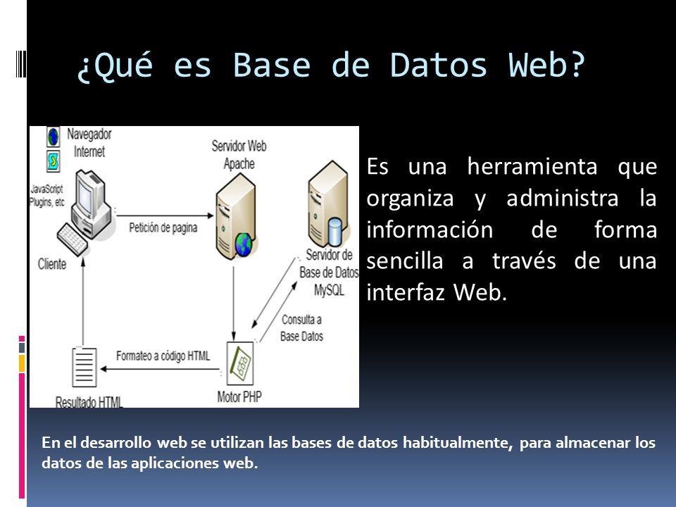 ¿Qué es Base de Datos Web