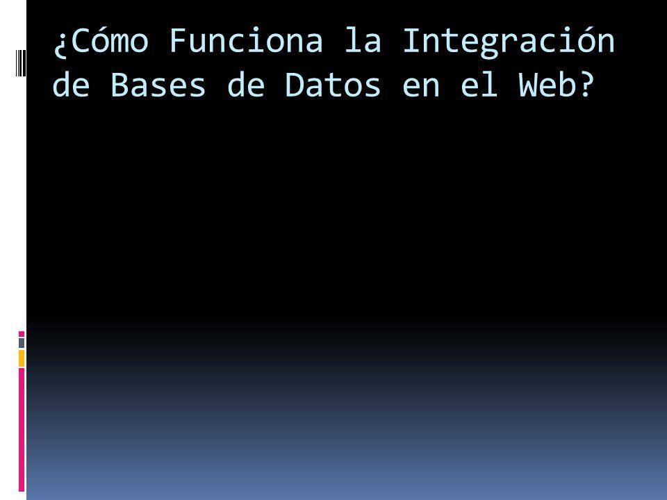 ¿Cómo Funciona la Integración de Bases de Datos en el Web