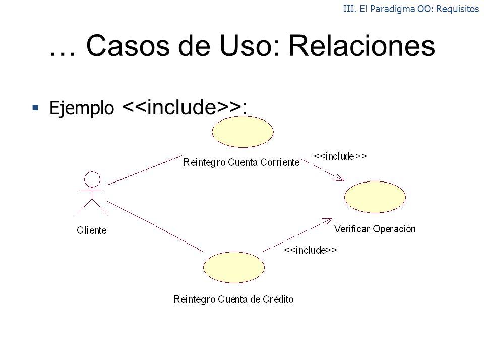 … Casos de Uso: Relaciones