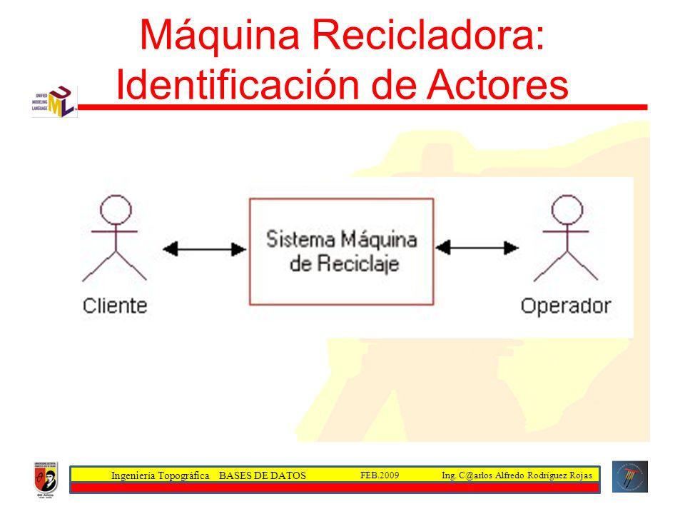 Máquina Recicladora: Identificación de Actores