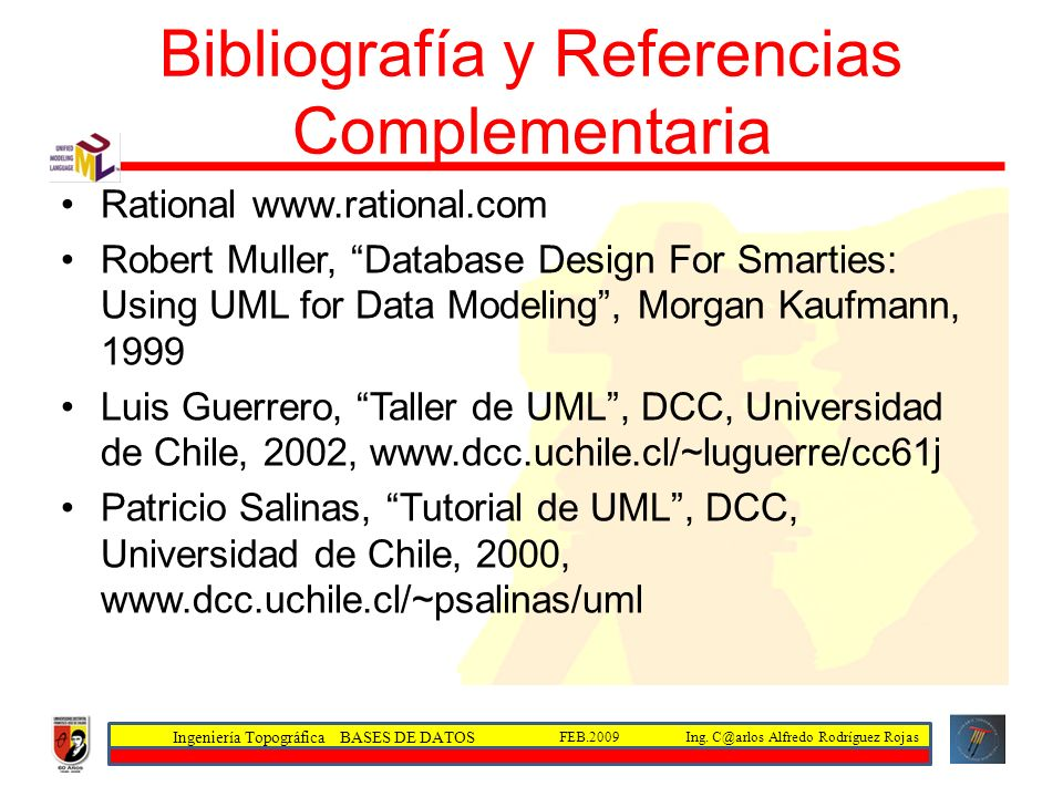 Bibliografía y Referencias Complementaria