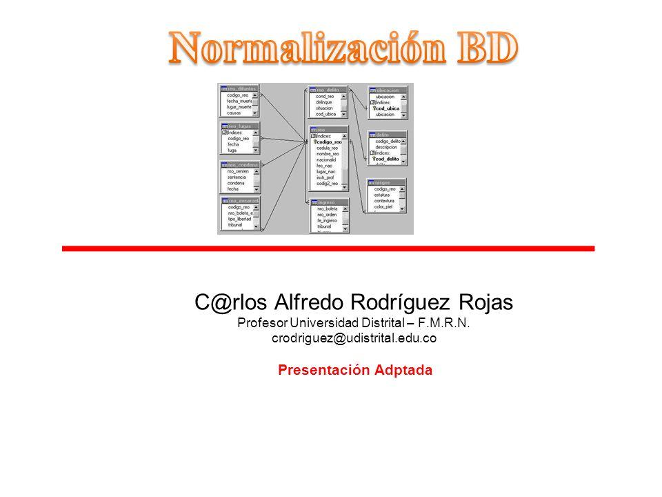 Normalización BD C@rlos Alfredo Rodríguez Rojas