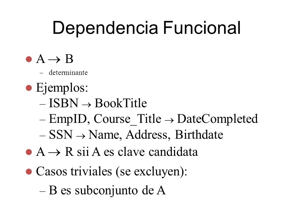 Dependencia Funcional
