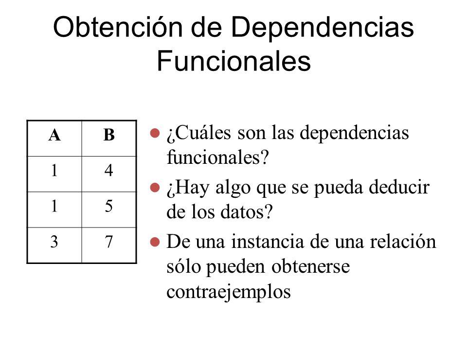 Obtención de Dependencias Funcionales