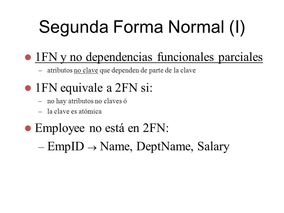 Segunda Forma Normal (I)
