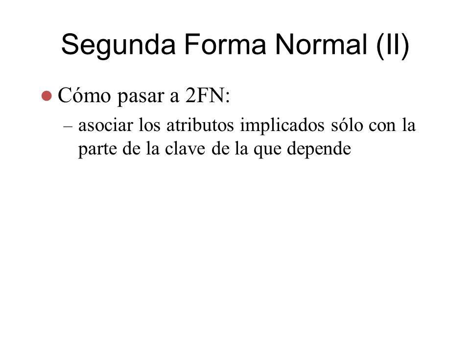 Segunda Forma Normal (II)