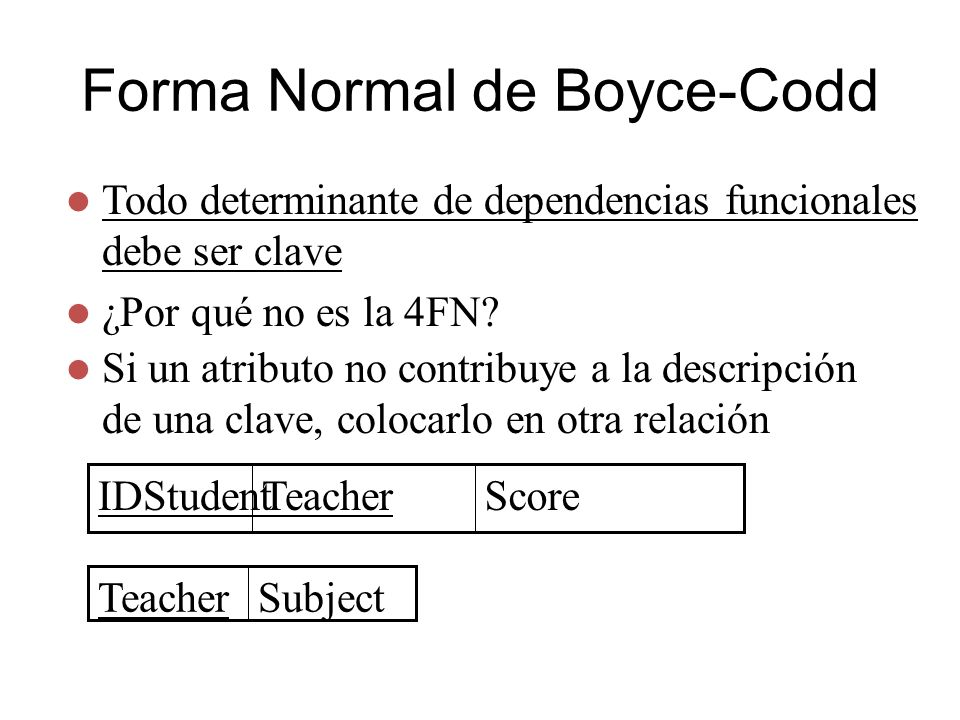 Forma Normal de Boyce-Codd