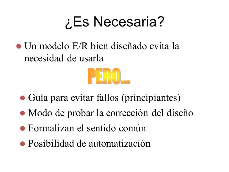 3/24/2017 ¿Es Necesaria Un modelo E/R bien diseñado evita la necesidad de usarla. PERO... Guía para evitar fallos (principiantes)