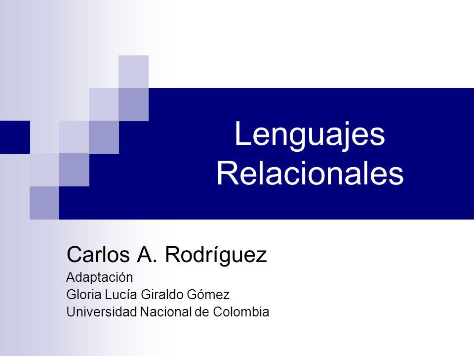 Lenguajes Relacionales