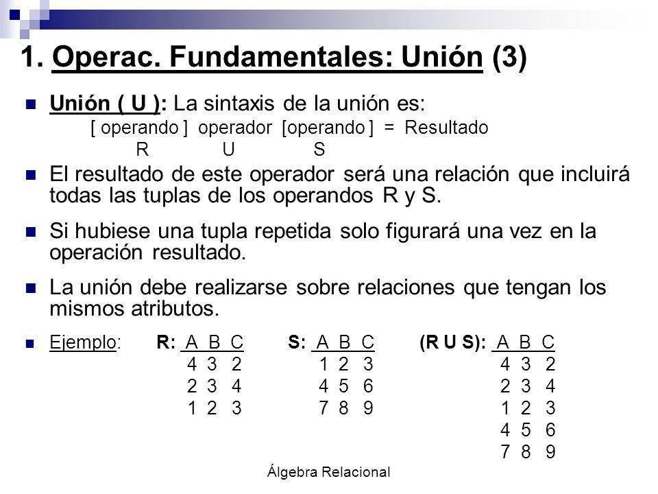1. Operac. Fundamentales: Unión (3)
