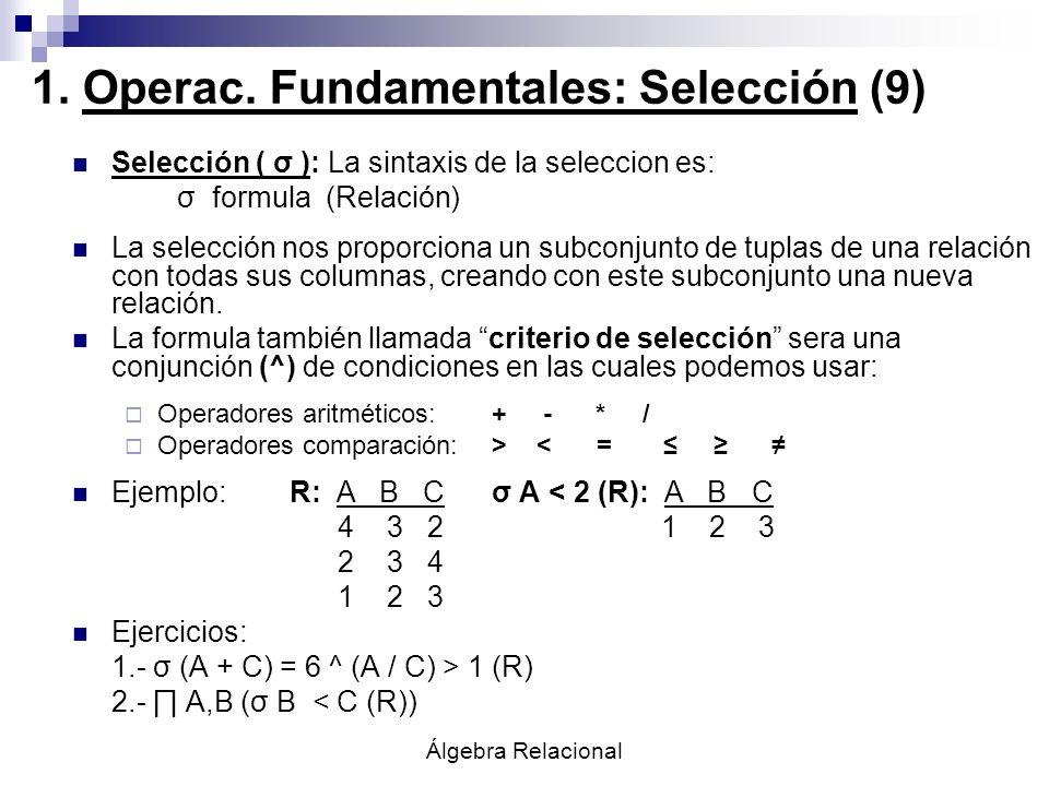 1. Operac. Fundamentales: Selección (9)