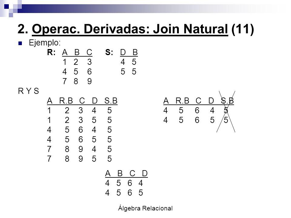 2. Operac. Derivadas: Join Natural (11)