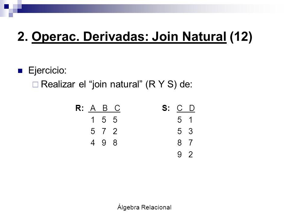 2. Operac. Derivadas: Join Natural (12)