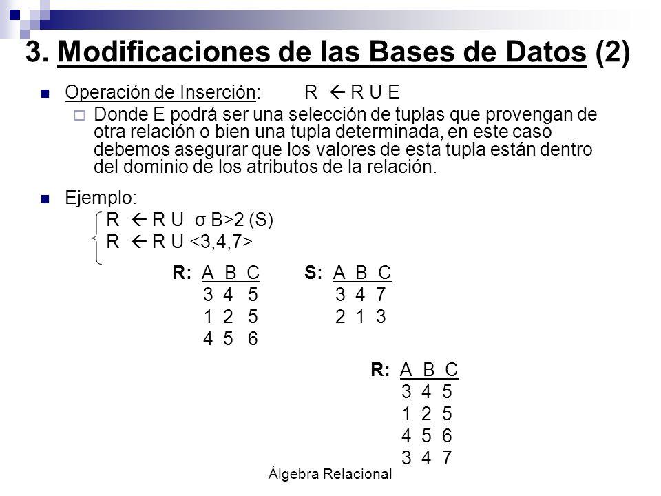 3. Modificaciones de las Bases de Datos (2)