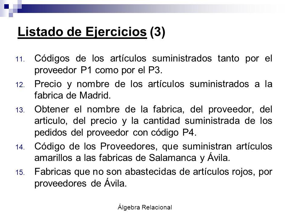 Listado de Ejercicios (3)