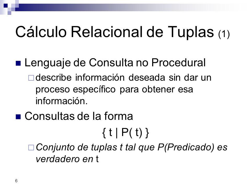 Cálculo Relacional de Tuplas (1)