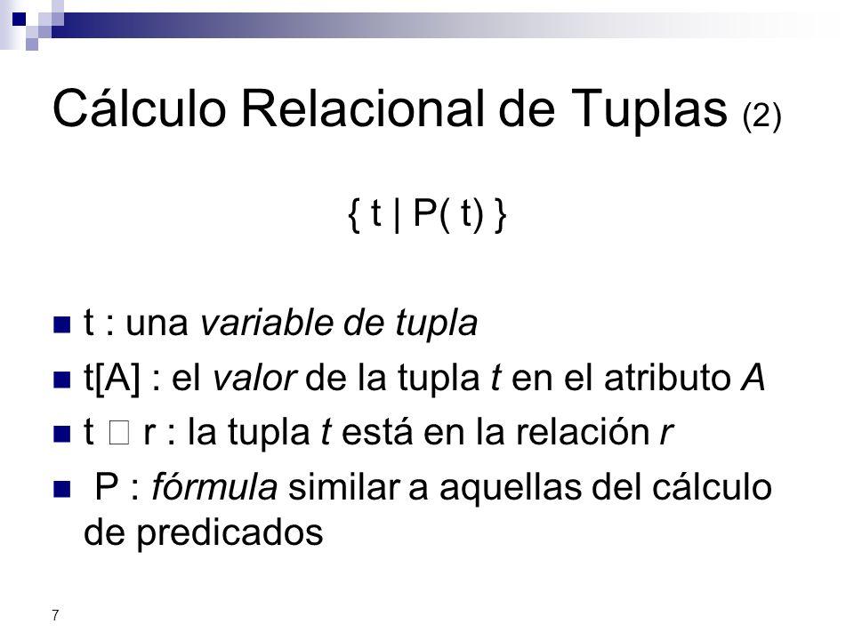 Cálculo Relacional de Tuplas (2)