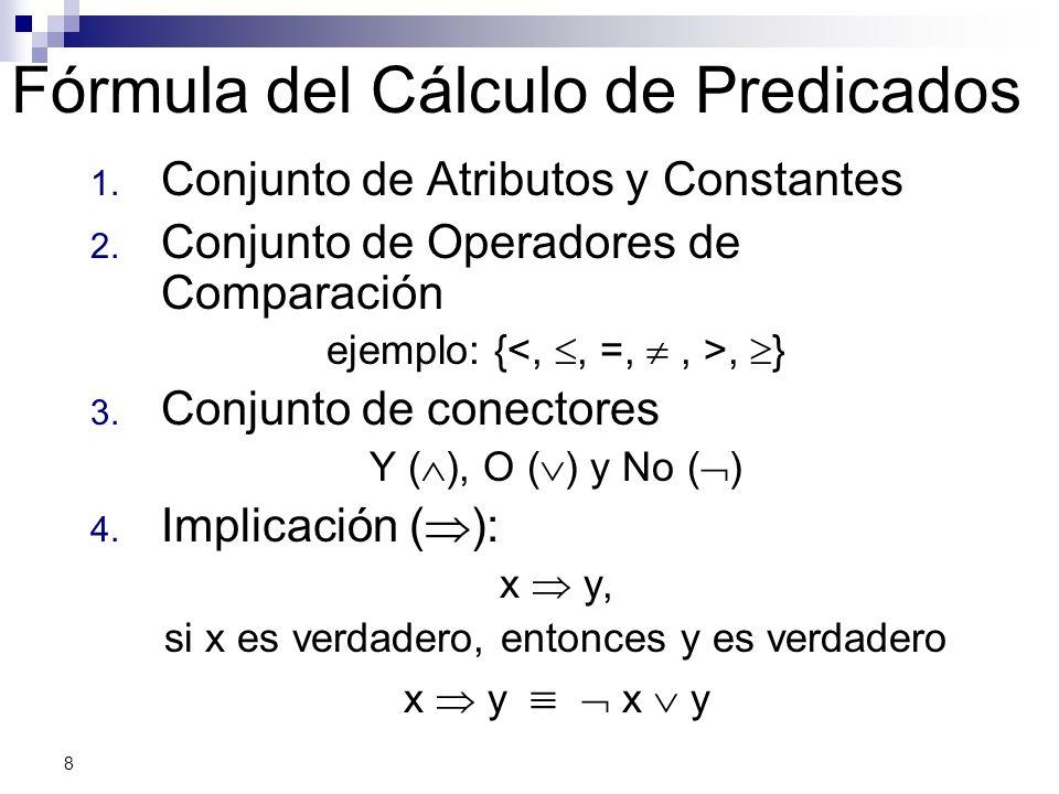 Fórmula del Cálculo de Predicados