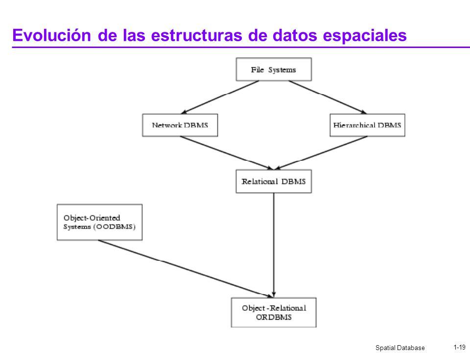 Evolución de las estructuras de datos espaciales