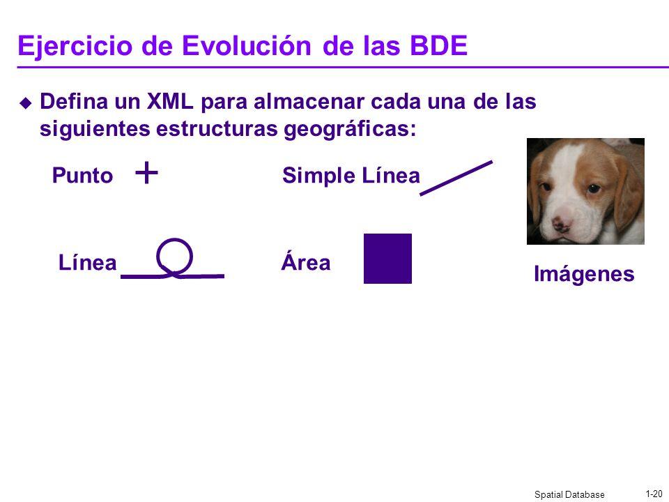 Ejercicio de Evolución de las BDE