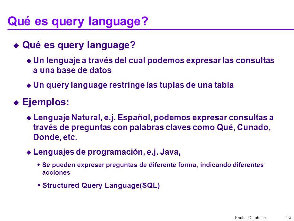 Qué es query language Qué es query language Ejemplos: