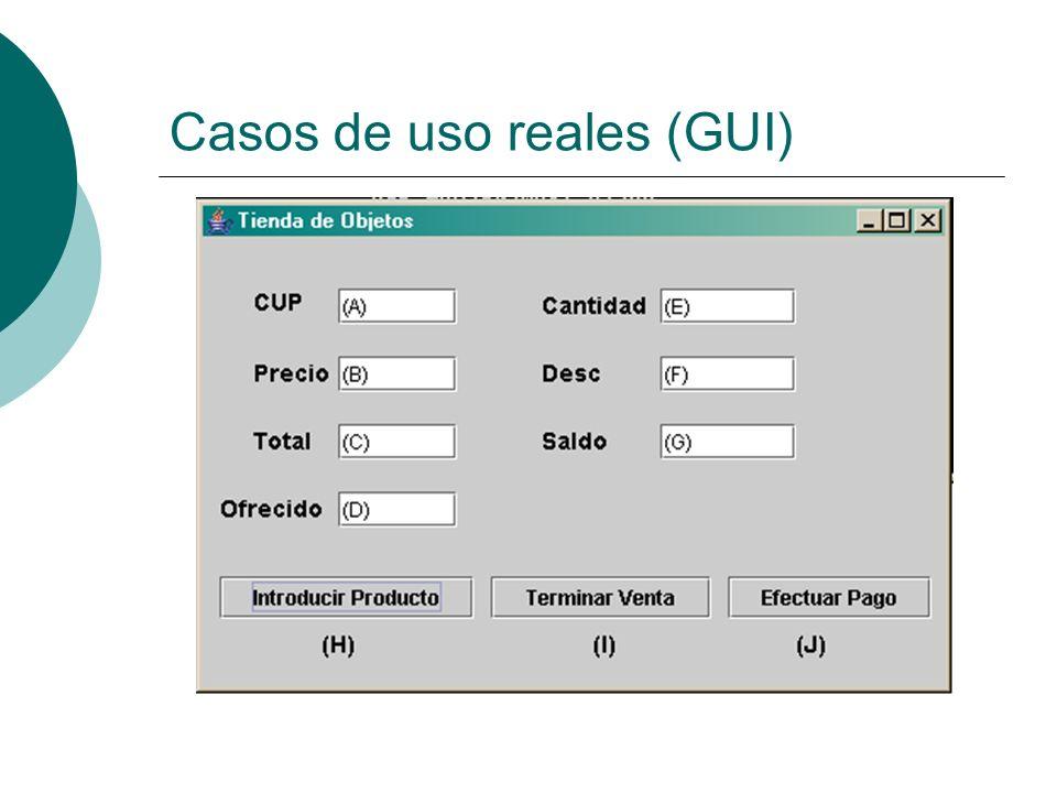 Casos de uso reales (GUI)