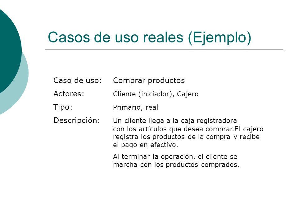 Casos de uso reales (Ejemplo)