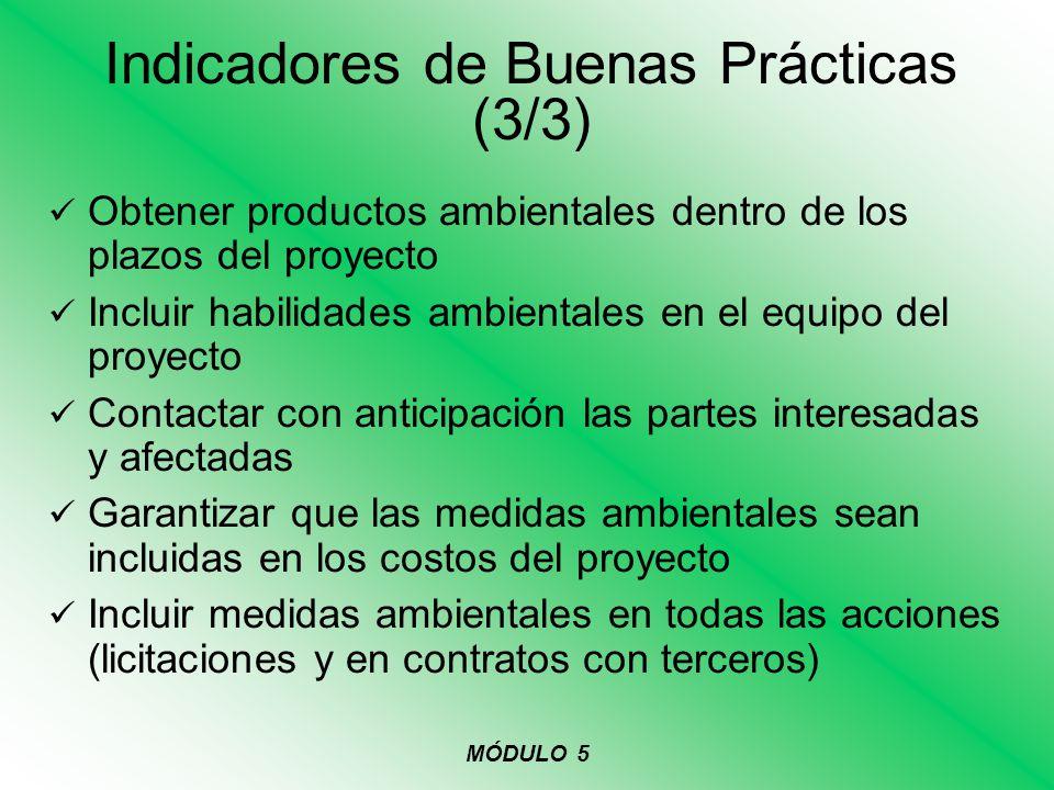 Indicadores de Buenas Prácticas (3/3)