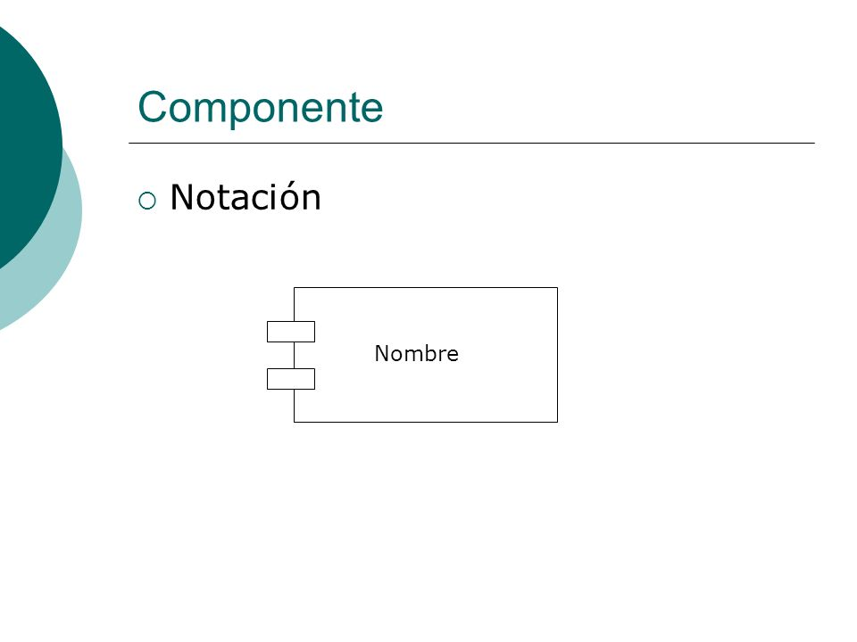 Componente Notación Nombre