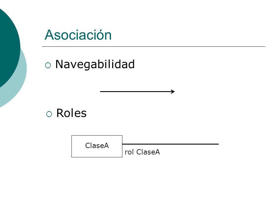 Asociación Navegabilidad Roles rol ClaseA ClaseA