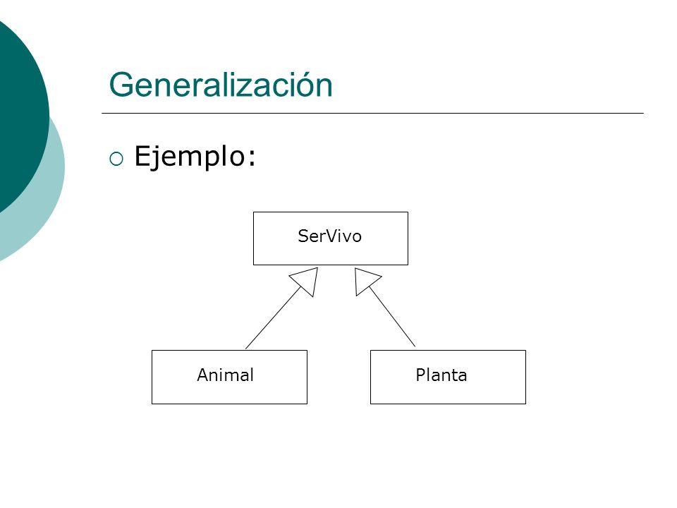Generalización Ejemplo: SerVivo Animal Planta