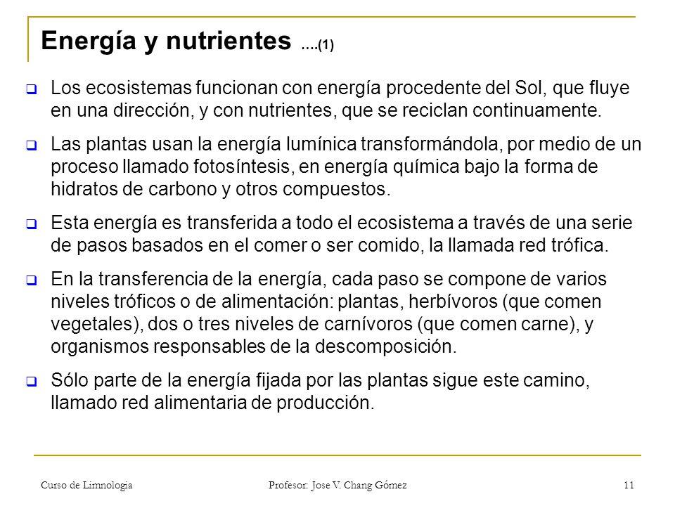 Energía y nutrientes ….(1)
