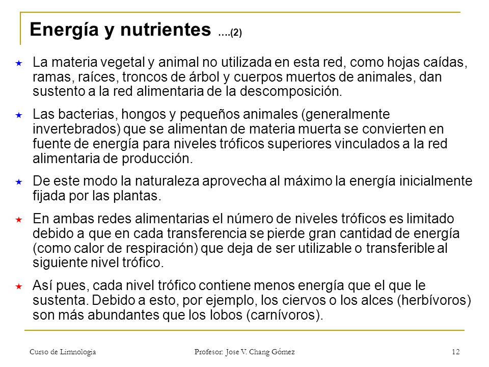Energía y nutrientes ….(2)