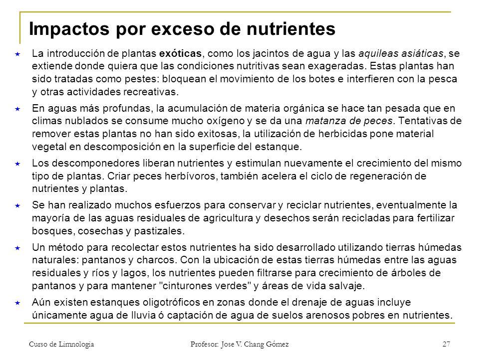 Impactos por exceso de nutrientes