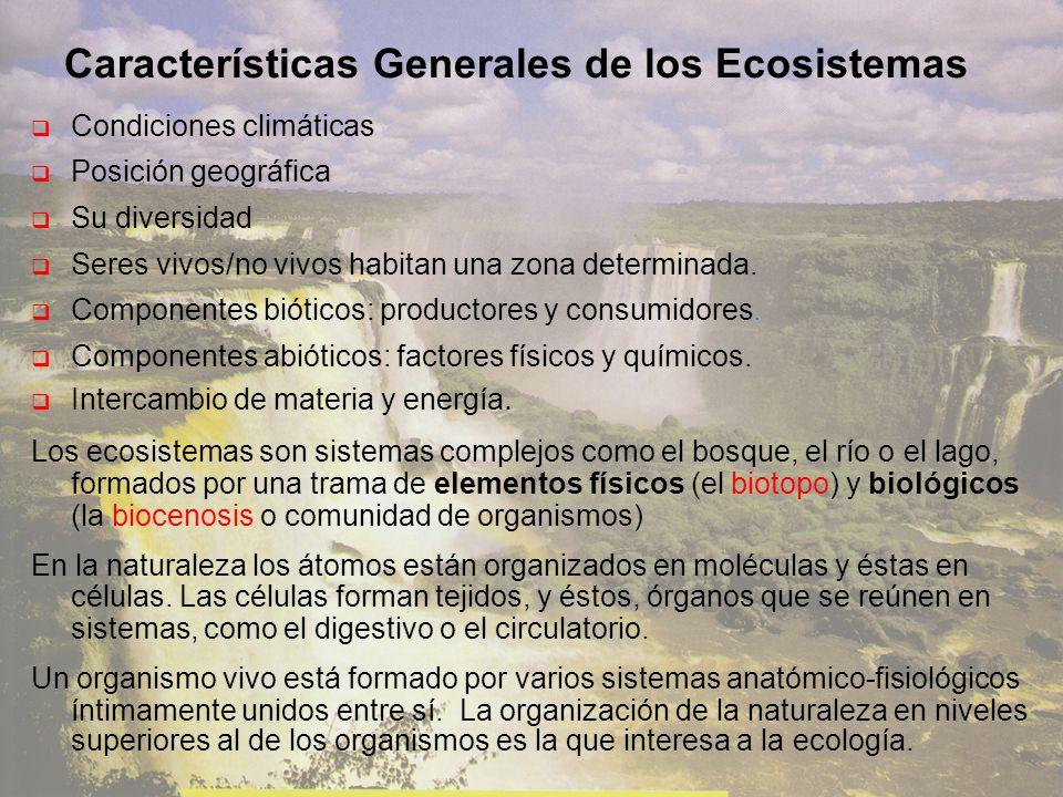 Características Generales de los Ecosistemas