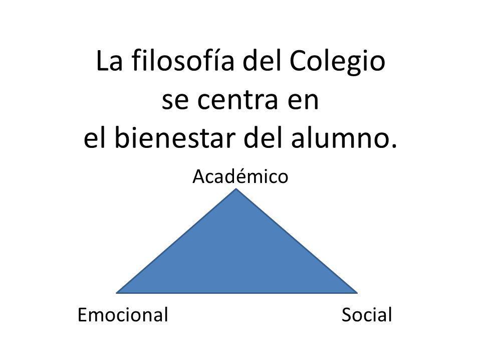 La filosofía del Colegio se centra en el bienestar del alumno.
