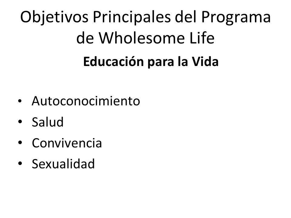 Objetivos Principales del Programa de Wholesome Life