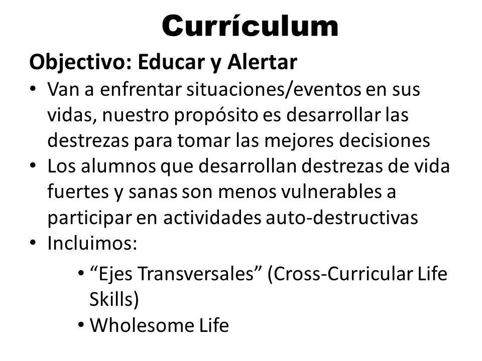 Currículum Objectivo: Educar y Alertar