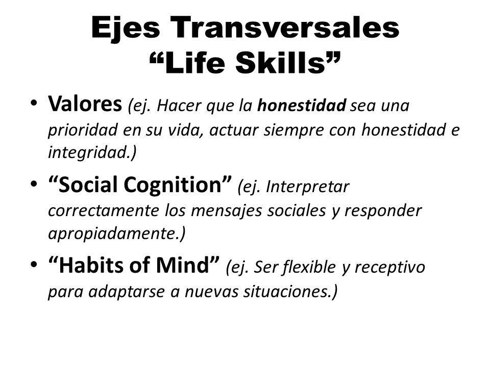 Ejes Transversales Life Skills