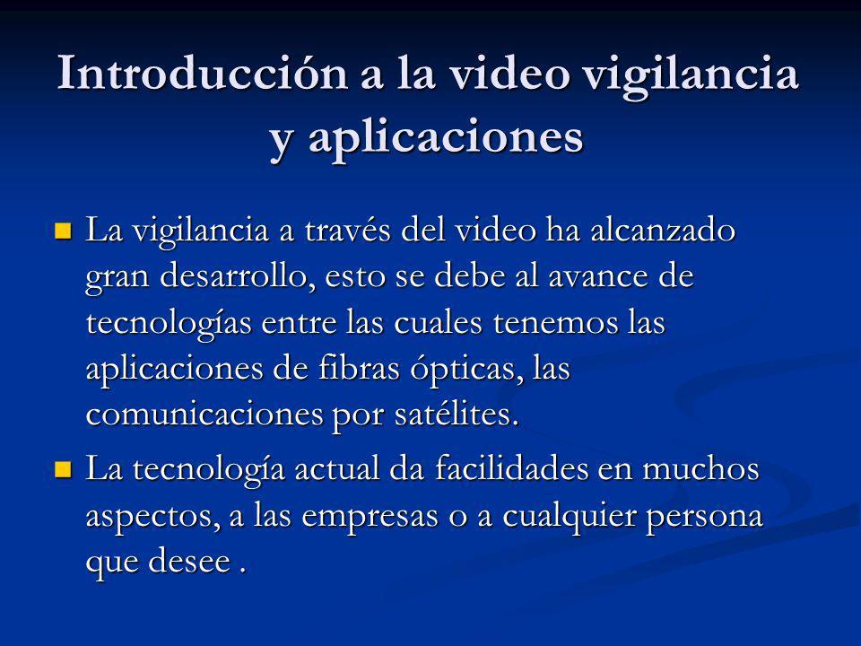 Introducción a la video vigilancia y aplicaciones