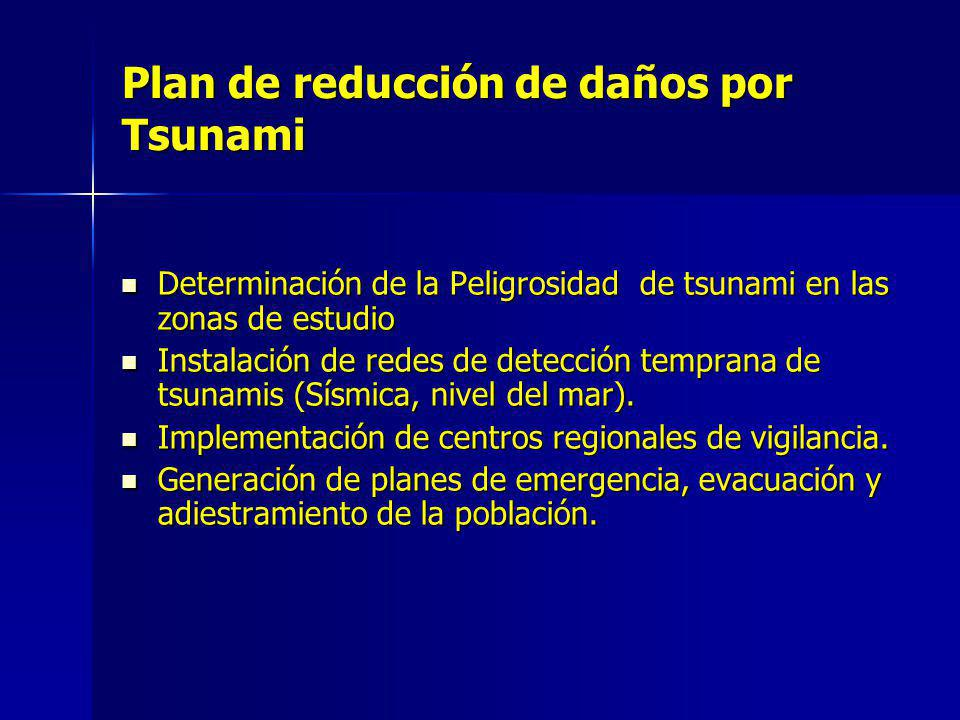 Plan de reducción de daños por Tsunami