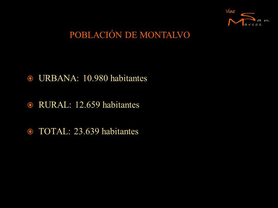S M Vino an arcos POBLACIÓN DE MONTALVO URBANA: 10.980 habitantes