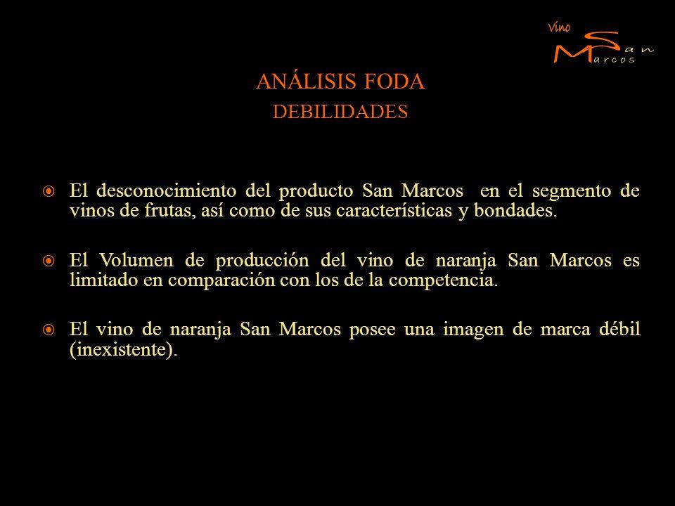 S M Vino an arcos ANÁLISIS FODA DEBILIDADES